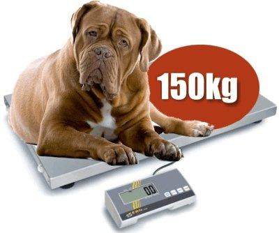 XL Tierwaage wahlweise mit Gummimatte 150 kg