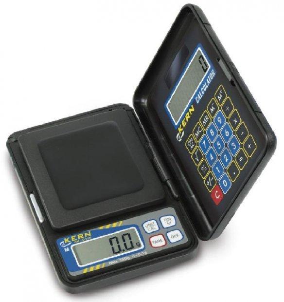 Robuste KERN 1000g Taschenwaage inkl. Taschenrechner