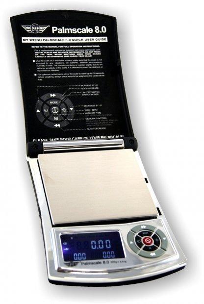 Edle Digitalwaage Modell Palmscale 8.0