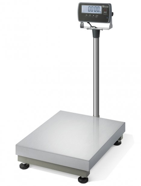 Industriewaage mit Eichung und Stativ inkl. IP Schutz Edelstahlplattform