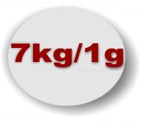 7 Kilogramm 1 Gramm Teilung