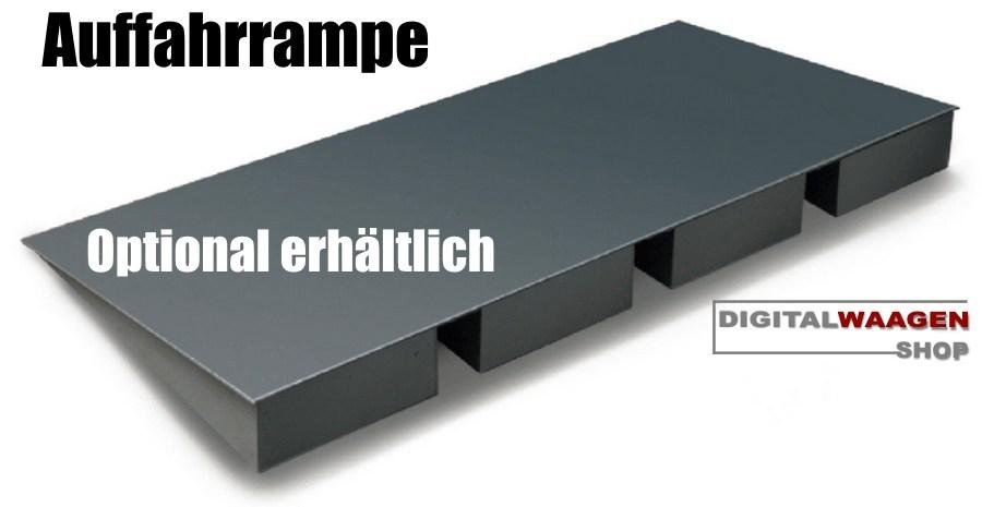 Plattformwaage mit Auffahrrampe