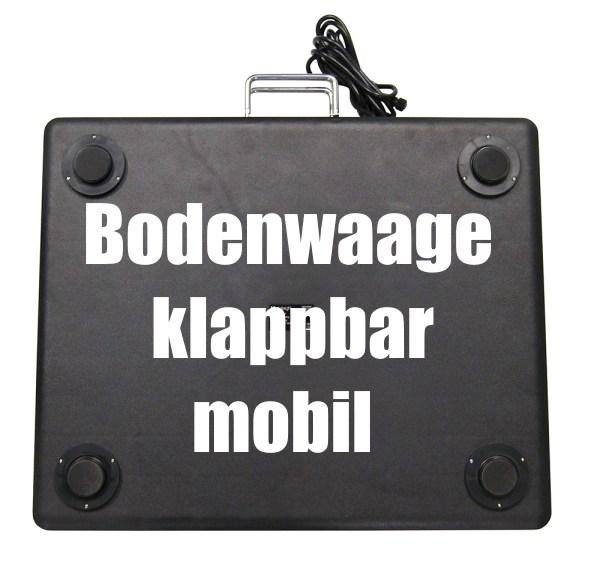 Bodenwaage mobil klappbar Schwerlastwaage Kontrollwaage