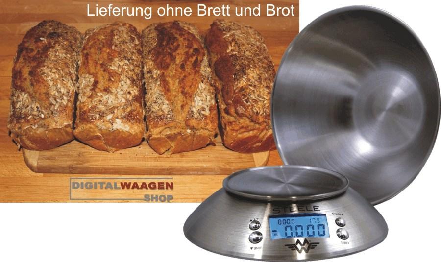Brot selber backen- Zutaten genau wiegen wie Mehl und Körnermischungen
