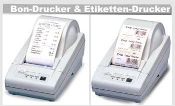 CAS Bon-Drucker und Etikettendrucker