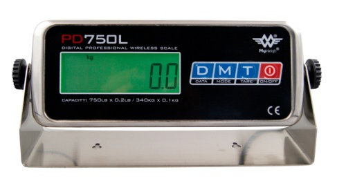 Das Display der MyWeigh PD750L Bodenwaage