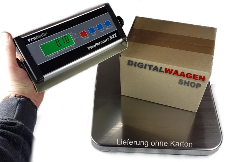 Edelstahl Plattformwaage Wägebereich max. 159 Kilogramm