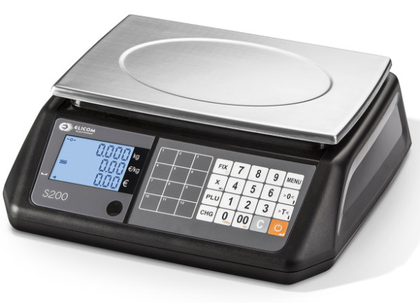 Elicom Ladenwaage Modell S2000 Farbe schwarz