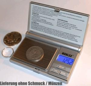 Goldwaaage für Goldmünzen und Schmuck