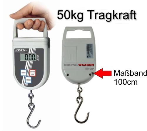 Hängewaage mit Massband und 50 kg Tragekraft