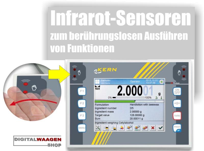 KERN ILT Waage mit Infrarot Sensoren