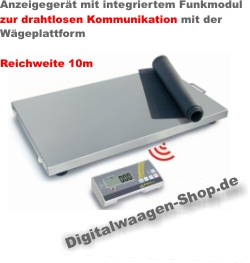 Mobile Plattformwaage mit drahtloser Kommunikation zum Display