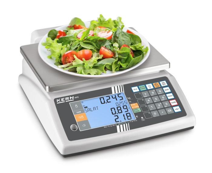 Salatwaage Salatbarwaage Kantinenwaage mit Eichung
