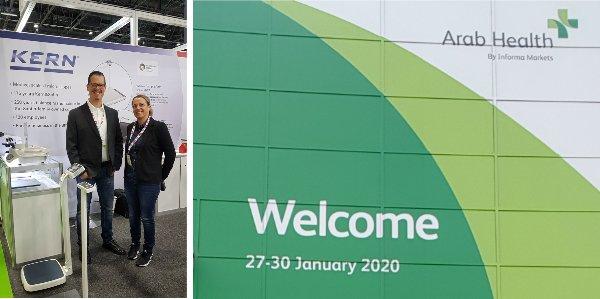 Arab Health Messe Dubai - Messestand Kern und Sohn Waagen - Fachbesucher Nohlex GmbH