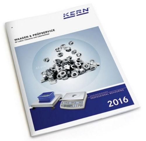 Waagen Katalog 2016 Firma Kern und Sohn