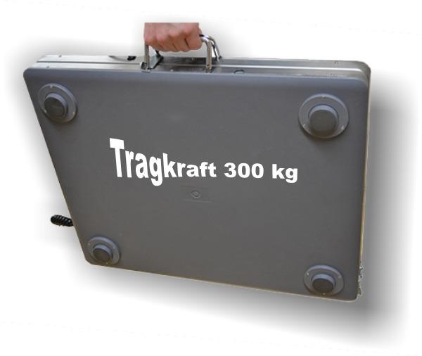 Tragbare Bodenwaage mit Griffen Wägebereich 300kg 100g