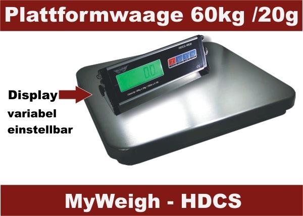 MyWeigh HDCS 60kg Plattformwaage