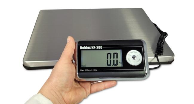 Nohlex Paketwaage mit handlichem Indikator für Qualitätskontrollen