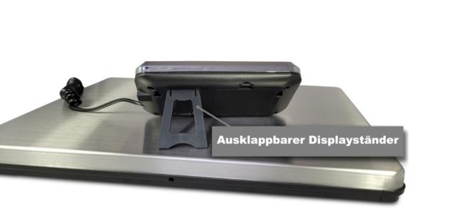 Paketwaage mit Displayständer
