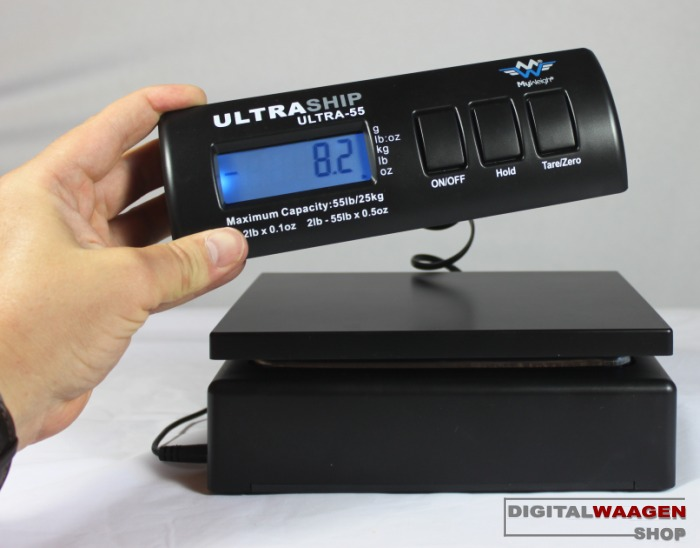 Kombination aus Paketwaage und Briefwaage - MyWeigh U55 Waage
