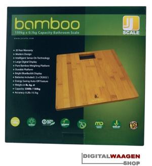 Personenwaage Bambus Optik