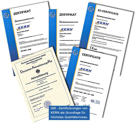 Firma KERN & Sohn GmbH QM Zertifizierungen
