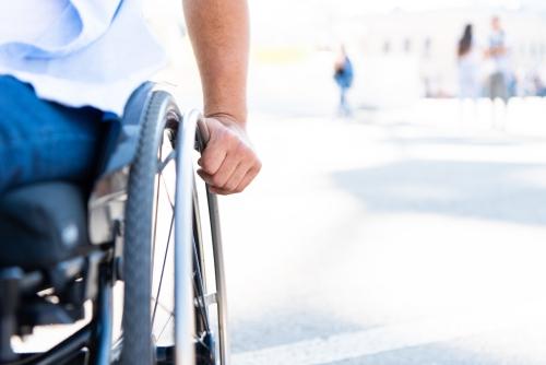 Waage für Rollstuhlfahrer