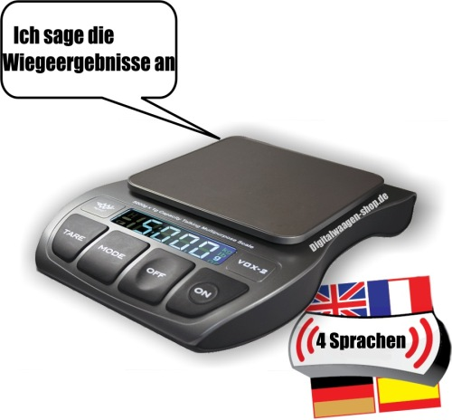 Sprechende Digitalwaage