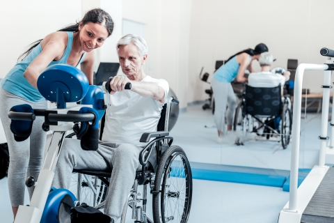 Medizinische Rehabilitation - Rollstuhlwaage für Patienten