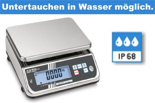 Wassergeschützte Wasserdichte Waage mit IP68 Schutzart Industriequalität