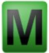 Symbol für geeichte Waage M