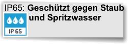 IP65 Staubschutz Spritzwasser