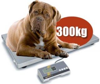 XL Tierwaage wahlweise mit Gummimatte 300kg