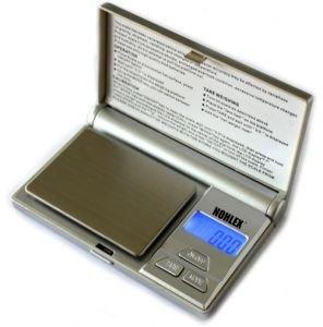 Küchen- Feinwaage 100g/0,01g mit Edelstahl Wiegefläche