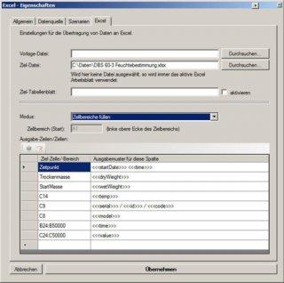 Beispiel 1 Tabelle Kern Waagen Software