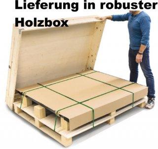 Lieferung der Durchfahrwaage in Holzbox