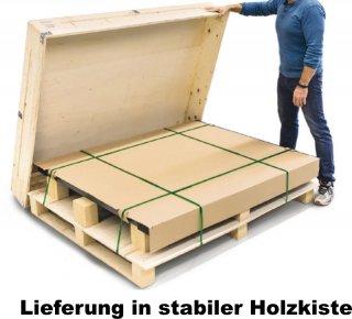 Lieferung in stabiler Holzbox - Sicherer Transport der Bodenwaage