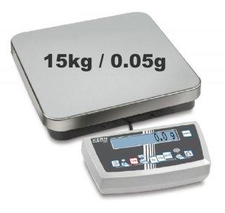 KERN CDS Zählwaage - 15kg / 0.05g Einfachzählwaage für hohe Lasten