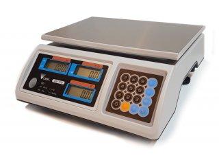 Preisrechnende geeichte Ladenwaage DIGI DS-700