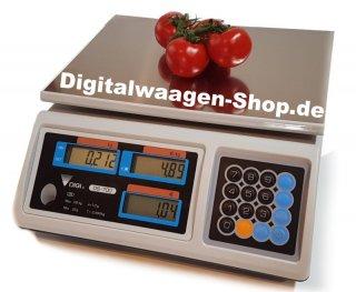 Ladenwaage für Gemüse, Obst und weitere Lebensmittel
