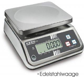 Lebensmittelwaage komplett aus Edelstahl 3kg/1g