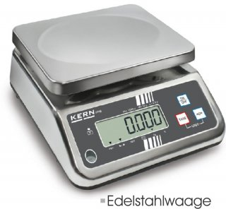 Lebensmittelwaage komplett aus Edelstahl 6kg/2g