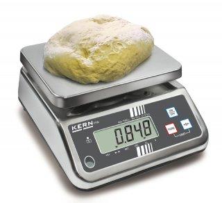 Lebensmittelwaage komplett aus Edelstahl 1,5kg/0,5g