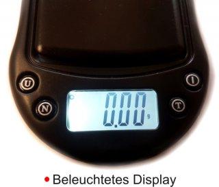 Beleuchtetes Display der Nohlex A03 Feinwaage